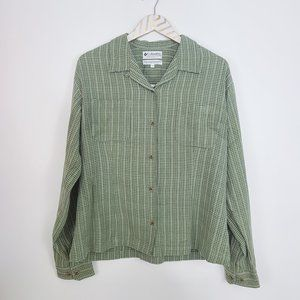 COLUMBIA Butterweed Check Shirt in Leek XL NWT